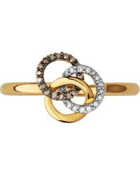 Links of London - Treasured 18ct Yellow-gold Vermeil And Diamond Ring - Lyst