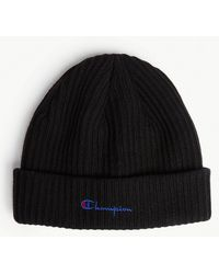 Champion - Logo Knitted Wool-blend Beanie - Lyst
