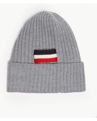 36d41b8a161 Lyst - Moncler Barretto Cable Knit Beanie in Blue for Men