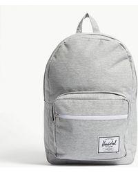 a2af3055c12d Herschel Supply Co. - . Light Grey Crosshatch Woven Pop Quiz Backpack - Lyst