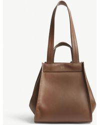 Max Mara - Anit Reversible Leather And Cashmere Shoulder Bag - Lyst