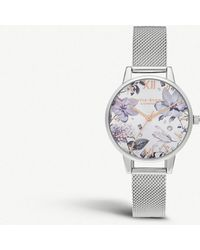 Olivia Burton - Ob16bf26 Bejewelled Florals Stainless Steel Watch - Lyst