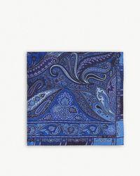 Etro - Paisley Print Silk Pocket Square - Lyst