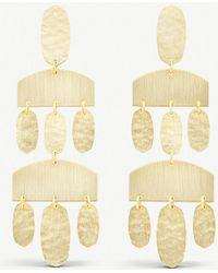 Kendra Scott - Emmet Chandelier 14ct Gold-plated Earrings - Lyst