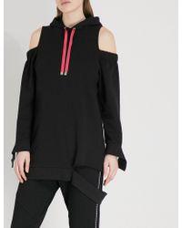 5cm - Cutout Oversized Jersey Hoody - Lyst