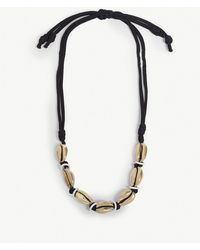 Max Mara - Shell And Rope Necklace - Lyst