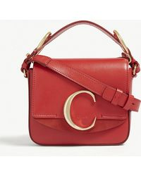 3c22f715e68 Chloé Elsie Small Leather Shoulder Bag in Pink - Lyst