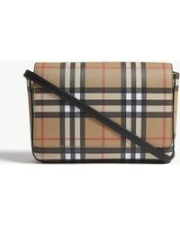 cacef9227eb0 Burberry - Hampshire Vintage Check Leather Cross-body Bag - Lyst