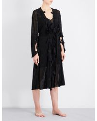Aimee Kestenberg | Floral-embroidered Knitted Robe | Lyst
