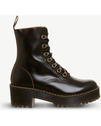 Dr. Martens - Leona Heeled Leather Boot - Lyst