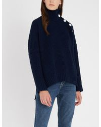 Zadig & Voltaire - Alma Button-trimmed Knitted Jumper - Lyst