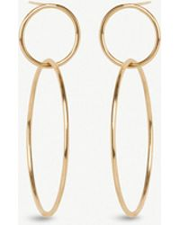 The Alkemistry - Zoë Chicco 14ct Yellow-gold Double Circle Earrings - Lyst