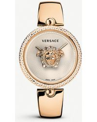 Versace 675000 Palazzo Empire Rose Gold-plated Stainless Steel Quartz Watch - Metallic