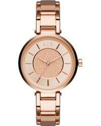 Armani Exchange | Rose Gold Bracelet Watch | Lyst