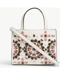 Kate Spade - White All-over Print Thompson Street Embellished Sam Leather Shoulder Bag - Lyst