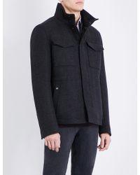BOSS Orange - Patch-pocket Wool-blend Coat - Lyst