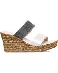 Carvela Kurt Geiger - Sybil Textured Wedge Sandals - Lyst