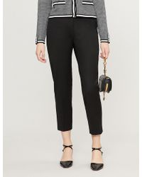 Claudie Pierlot - Pascal Cropped Twill Trousers - Lyst
