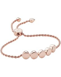 Monica Vinader - Linear Bead 18ct Rose Gold-plated And Pavé Diamond Bracelet - Lyst