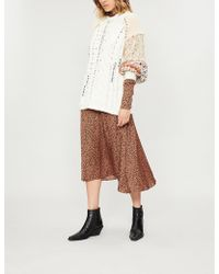Free People - Mixed And Mended Contrast-panel Cotton-blend Jumper - Lyst