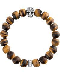 Thomas Sabo - Rebel At Heart Skull Beaded Bracelet - Lyst