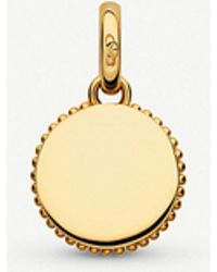Links of London - Narrative Mini Disc 18ct Yellow Gold-vermeil Pendant - Lyst