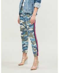 Mother - The No Zip Misfit Tapered Mid-rise Cotton-blend Trousers - Lyst