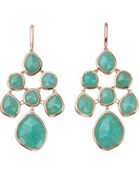 Monica Vinader - Siren Chandelier 18ct Rose Gold-plated And Amazonite Earrings - Lyst