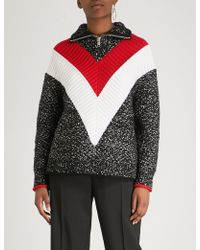 Givenchy - Striped Knitted Jumper - Lyst