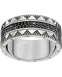 Thomas Sabo - Filigree Sterling Silver And Zirconia Ring - Lyst