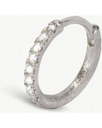 Annoushka - Dusty Diamonds 18ct White-gold Hoop Earrings - Lyst