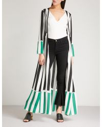We Are Leone - Striped Silk Maxi Jacket - Lyst