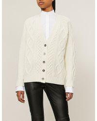 3.1 Phillip Lim - Aran Cable-knit Wool Cardigan - Lyst