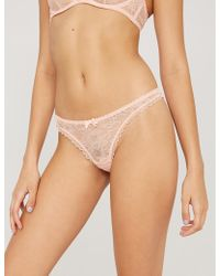 Agent Provocateur - Hinda Lace Thong - Lyst