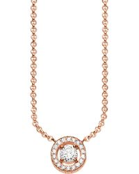Thomas Sabo - Light Of Luna 18ct Rose Gold-plated Sterling Silver Necklace - Lyst