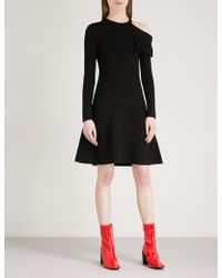 Mo&co. - Ruffled Cold-shoulder Knitted Dress - Lyst