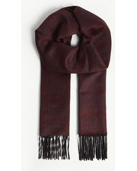 Richard James - Grid Pattern Silk And Cashmere Scarf - Lyst