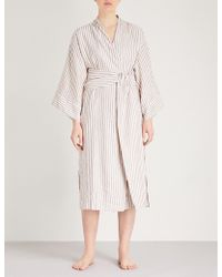 Three Graces London - Isabella Cotton-linen Robe - Lyst