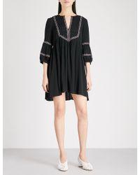 Ba&sh - Tale Embroidered Crepe Mini Dress - Lyst