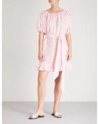 Lisa Marie Fernandez - Prairie Linen Mini Dress - Lyst