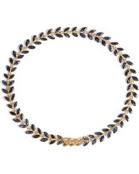 Annoushka - Sapphire Vine 18ct Gold And Sapphire Bracelet - Lyst