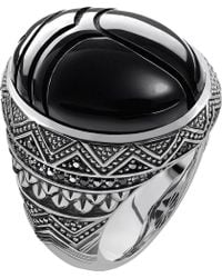 Thomas Sabo - Rebel At Heart Sterling Silver And Onyx Scarab Beetle Ring - Lyst