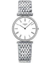 Longines - L4.513.0.11.6 La Grande Classique Black Diamond Watch - Lyst