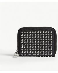 Zadig & Voltaire - Mini Spike Leather Purse - Lyst
