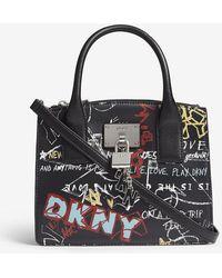 DKNY - Elissa Graffiti-print Leather Tote - Lyst
