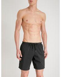 Moschino - Metal Logo Swim Shorts - Lyst