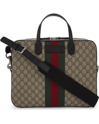 Gucci - Supreme Canvas Briefcase - Lyst