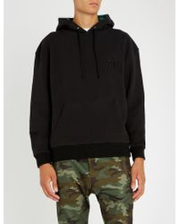 The Kooples - Logo-embroidered Cotton-jersey Hoody - Lyst