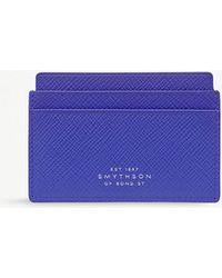 Smythson - Panama Cross-grain Leather Card Holder - Lyst