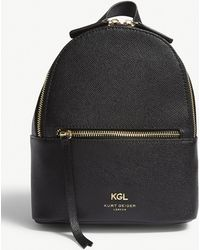 Kurt Geiger - Black Richmond Small Grained Leather Backpack - Lyst